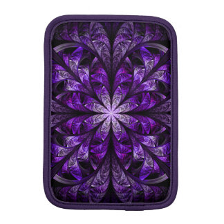 Modern Stylish Chic Elegant Royal Purple Fractal iPad Mini Sleeve
