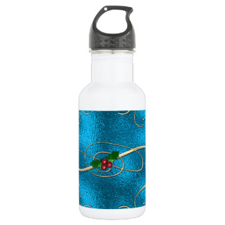 Modern & Stylish Christmas Swirls 532 Ml Water Bottle