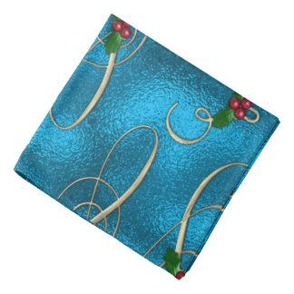 Modern & Stylish Christmas Swirls Bandana