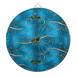 Modern & Stylish Christmas Swirls Dartboard