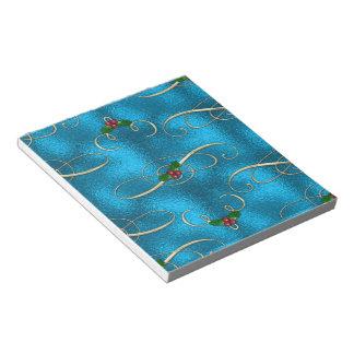 Modern & Stylish Christmas Swirls Notepad