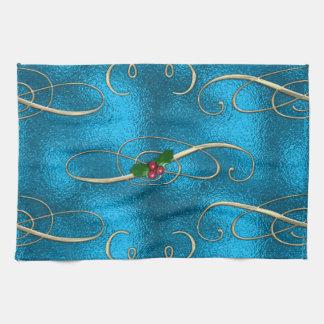 Modern & Stylish Christmas Swirls Tea Towel