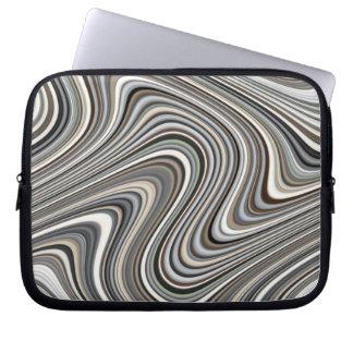 Modern Stylish Curvy Abstract Pattern Laptop Sleeve