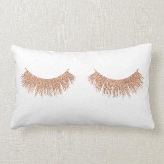 Modern Stylish Eyelashes Makeup Glam Throw Pillow