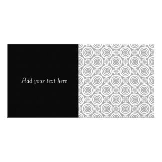 Modern Stylish Geometric Circles Grey and White Picture Card