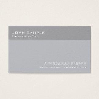 Modern Stylish Grey Professional Simple Plain Business Card