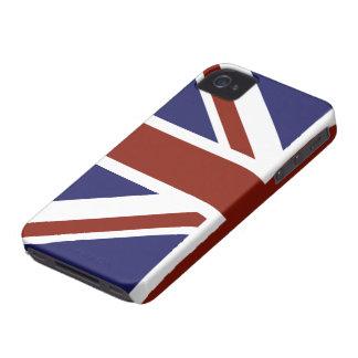 Modern stylish half Union Jack design iPhone 4 Cases