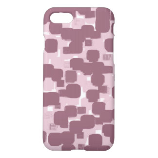 Modern Stylish Pink Abstract Pattern iPhone 8/7 Case
