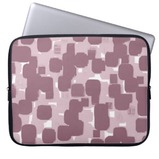 Modern Stylish Pink Abstract Pattern Laptop Sleeve