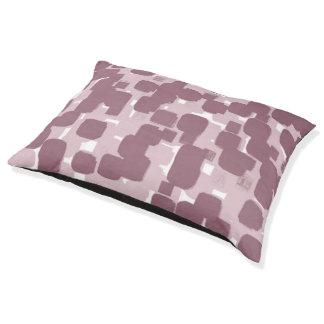 Modern Stylish Pink Abstract Pattern Pet Bed