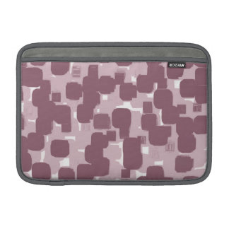 Modern Stylish Pink Abstract Pattern Sleeve For MacBook Air