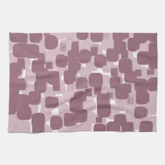 Modern Stylish Pink Abstract Pattern Tea Towel