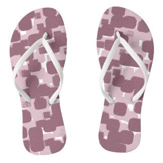 Modern Stylish Pink Abstract Pattern Thongs