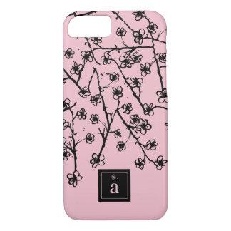 Modern, Stylish Pink Flowers iPhone 8/7 Case