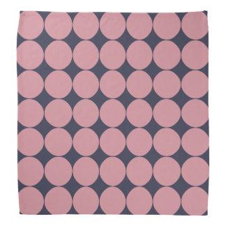 Modern Stylish Pink Polka Dot Bandana