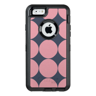 Modern Stylish Pink Polka Dot OtterBox Defender iPhone Case