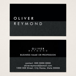 modern & stylish professional black-on-black business card