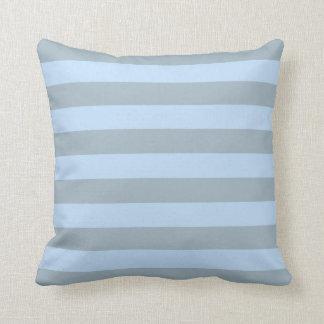 Modern stylish stripes blue gray Throw Pillow