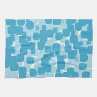 Modern Stylish Teal Abstract Pattern Tea Towel