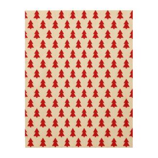 Modern Stylish Tree Pattern Red Wood Prints
