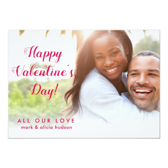 Modern Stylish | Valentine's Day Photo Card