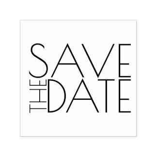 Modern Stylish Wedding Save the Date Self-inking Stamp