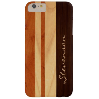 Modern Stylish Wood Stripes - Faux Wood Grain Look Barely There iPhone 6 Plus Case