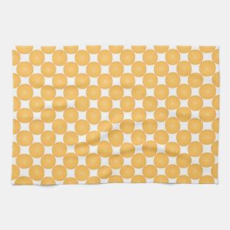 Modern Stylish Yellow Polka Dot Tea Towel