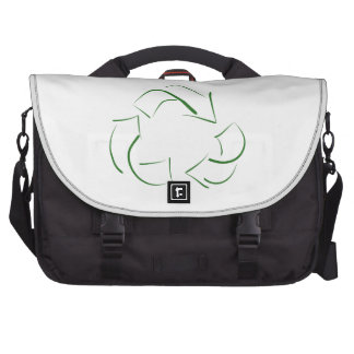 Modern Stylized Recycle symbol messenger bag Laptop Commuter Bag