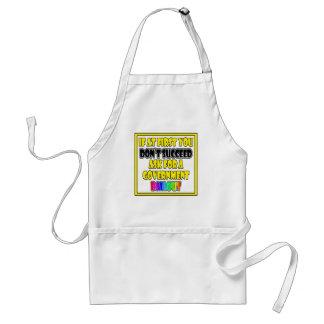 modern success business humor standard apron