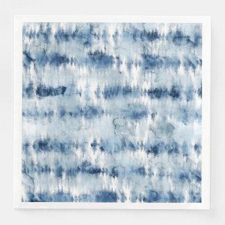 Modern summer navy blue tie dye watercolor disposable serviette