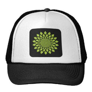 Modern Sunflower (Green) Cap