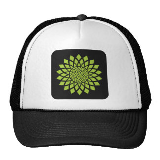 Modern Sunflower (Green) Trucker Hat