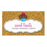 MODERN SWEET cute cupcake pink gold glitter