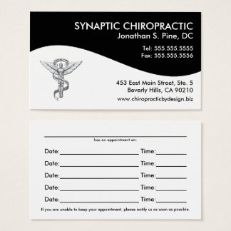 Modern Swirl Chiropractic Appointment Cards