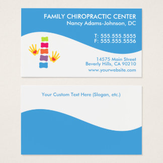 Modern Swirl Colorful Chiropractic Business Cards