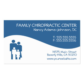 Modern Swirl Family Chiropractic Business Cards