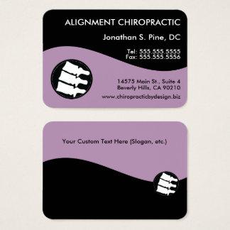 Modern Swirl Oversized Chiropractic Business Card