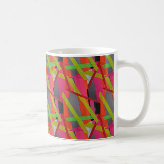 Modern Tape Art Neon Coffee Mug