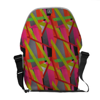 Modern Tape Art Neon Commuter Bag