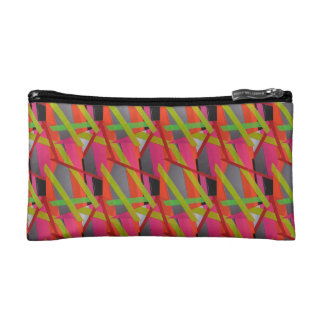 Modern Tape Art Neon Cosmetic Bag