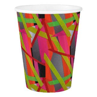 Modern Tape Art Neon Paper Cup