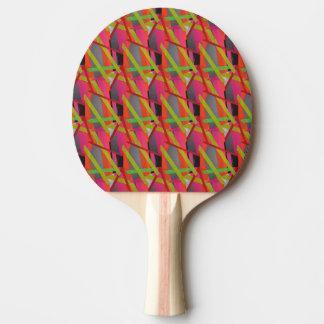 Modern Tape Art Neon Ping Pong Paddle