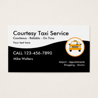 Modern Taxi Service Business Card