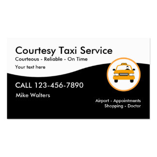 Modern Taxi Service Pack Of Standard Business Cards