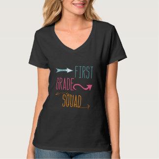 Modern Teacher First Grade Squad T-shirt