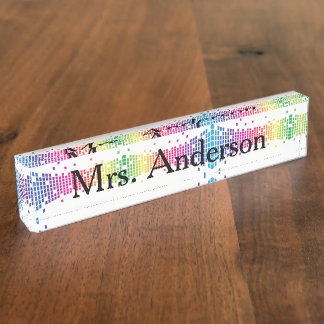 Modern Teacher Nameplate for desk