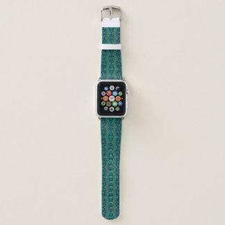 Modern Teal Animal Print Damask Pattern Apple Watch Band