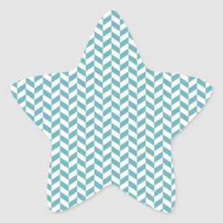 Modern Teal Blue and White Hip Striped Pattern Stickers