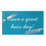 Modern Teal Glitter Hair Stylist Business Cards